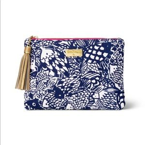 Lilly Pulitzer For Target Upstream Clutch Navy NWT